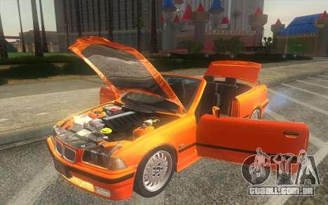 BMW 325i E36 Convertible 1996 para GTA San Andreas vista traseira