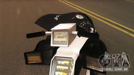 CopBike Alien City para GTA San Andreas traseira esquerda vista