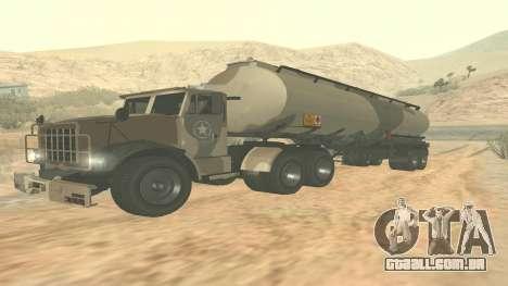Trailer de GTA 5 quartel ver. 2 para GTA San Andreas traseira esquerda vista