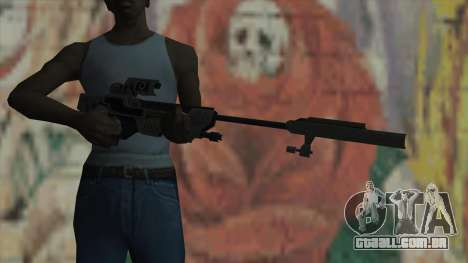Rifle sniper de Timeshift para GTA San Andreas terceira tela
