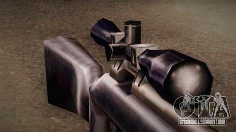 Rifle sniper de Max Payn para GTA San Andreas segunda tela