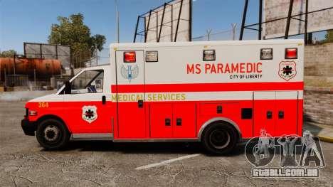 Brute Ambulance FDLC [ELS] para GTA 4 esquerda vista