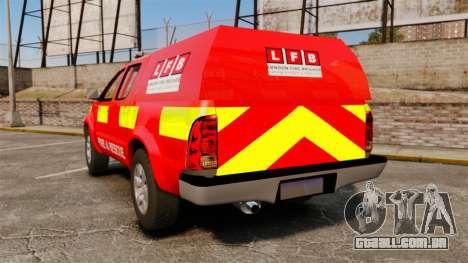 Toyota Hilux London Fire Brigade [ELS] para GTA 4 traseira esquerda vista