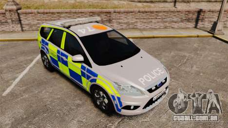 Ford Focus Estate 2009 Police England [ELS] para GTA 4 vista de volta