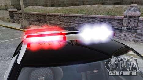 GTA V Police Elegy RH8 para GTA 4 vista de volta