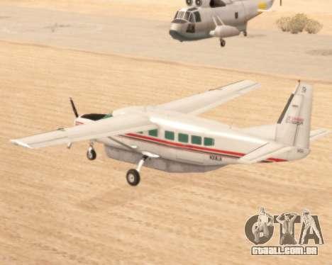 Cessna 208B Grand Caravan para GTA San Andreas traseira esquerda vista