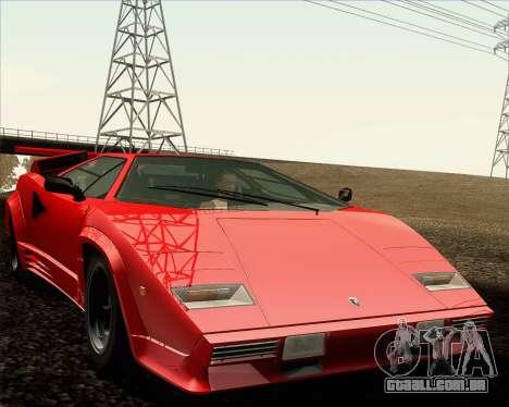 Lamborghini Countach LP500 Quattrovalvole 1988 para GTA San Andreas vista inferior