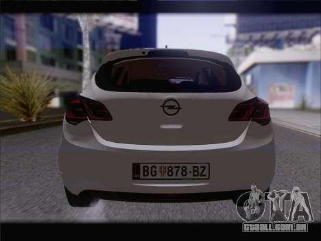 Opel Astra J 2011 para GTA San Andreas vista interior