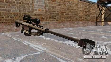 O Barrett M82 sniper rifle calibre 50 para GTA 4