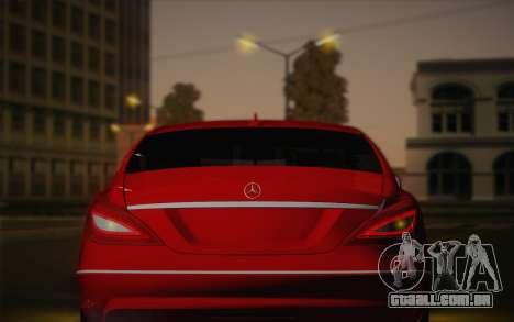 Mercedes-Benz CLS 63 AMG 2012 Fixed para GTA San Andreas vista inferior