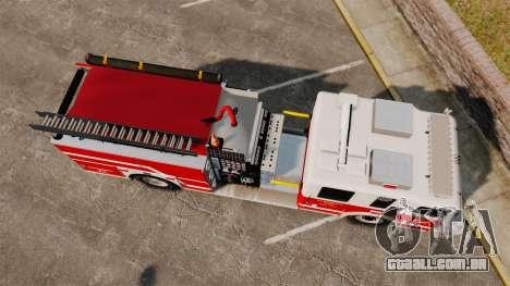 Firetruck Alderney [ELS] para GTA 4 vista direita