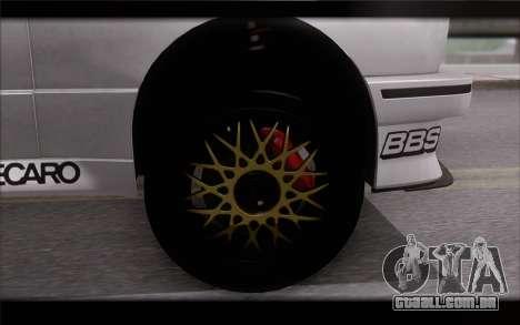BMW M3 E30 Racing Version para GTA San Andreas traseira esquerda vista