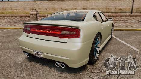 GTA V Bravado Buffalo STD8 v2.0 para GTA 4 traseira esquerda vista