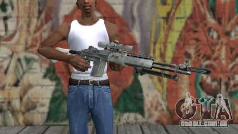 M14 EBR Ártico para GTA San Andreas terceira tela
