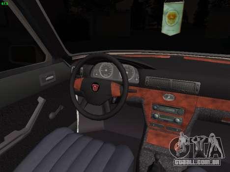 GAZ 3102 postura para GTA San Andreas vista interior