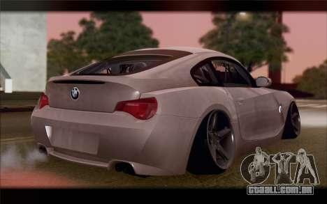 BMW Z4 Stance para GTA San Andreas esquerda vista