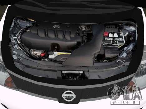 Nissan Tiida para GTA Vice City vista interior