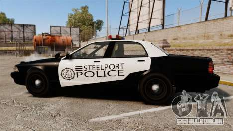 GTA V Vapid Steelport Police Cruiser [ELS] para GTA 4 esquerda vista