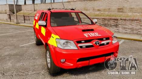 Toyota Hilux London Fire Brigade [ELS] para GTA 4