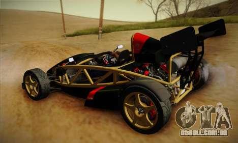 Ariel Atom 500 2012 V8 para GTA San Andreas vista traseira