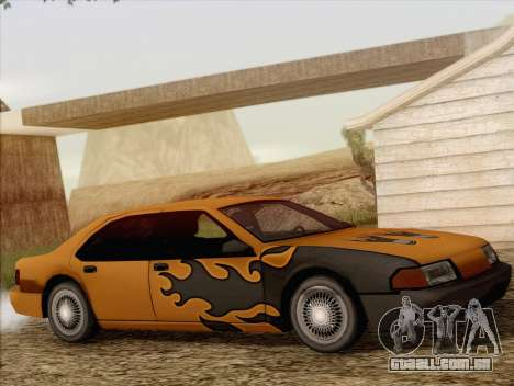 Fortune Sedan para GTA San Andreas vista interior