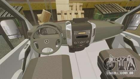 Mercedes-Benz Sprinter OSU [ELS] para GTA 4 vista de volta