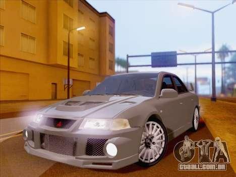 Mitsubishi Lancer Evolution VI LE para GTA San Andreas vista traseira