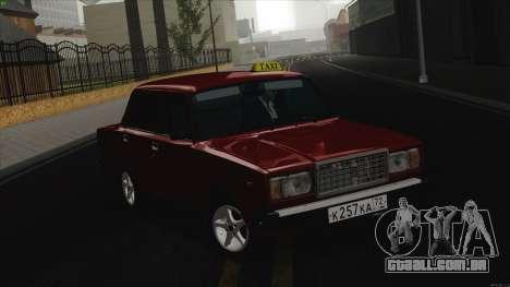 VAZ 2107 Bombilla para GTA San Andreas esquerda vista