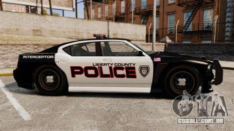 GTA V Bravado Buffalo Supercharged LCPD para GTA 4 esquerda vista
