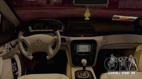 Mercedes-Benz W220 S500 4matic para GTA San Andreas vista direita