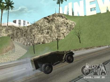 BTR-40 para GTA San Andreas vista direita