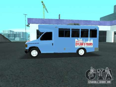Ford Shuttle Bus para GTA San Andreas esquerda vista