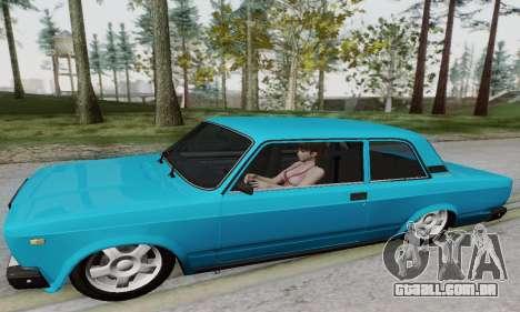 VAZ 2107 Coupe para GTA San Andreas traseira esquerda vista