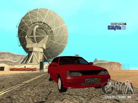 VAZ 2115 táxi para GTA San Andreas vista direita