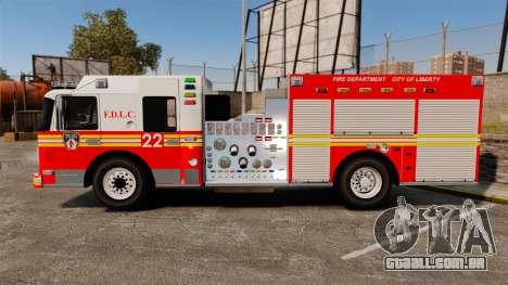 Firetruck FDLC [ELS] para GTA 4 esquerda vista