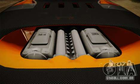 Bugatti Veyron Super Sport World Record Edition para GTA San Andreas vista superior