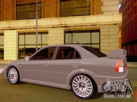 Mitsubishi Lancer Evolution VI LE para GTA San Andreas vista direita