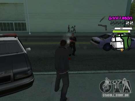 HUD para GTA San Andreas quinto tela