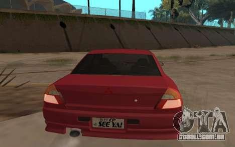 Mitsubishi Lancer Evolution VI para GTA San Andreas esquerda vista