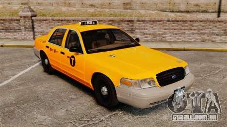 Ford Crown Victoria 1999 NYC Taxi para GTA 4 vista lateral