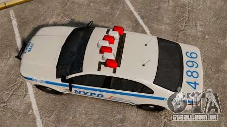 GTA V Police Vapid Interceptor NYPD para GTA 4 vista direita