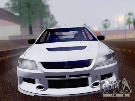 Mitsubishi Lancer Evo IX MR Edition para GTA San Andreas vista direita