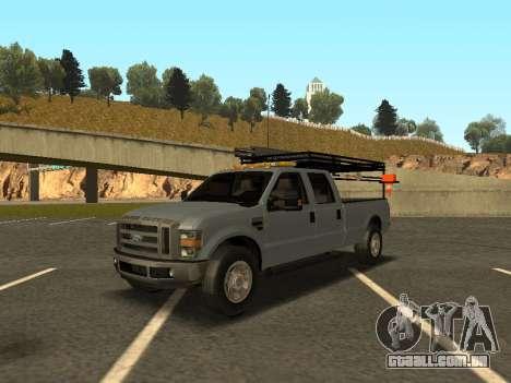 Ford F-350 para GTA San Andreas esquerda vista