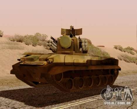 2S6 Tunguska para GTA San Andreas esquerda vista
