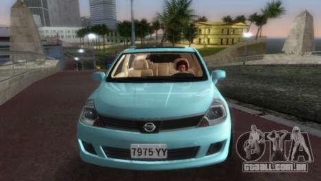 Nissan Tiida para GTA Vice City vista traseira