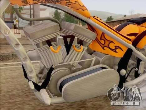 Sons Of Anarchy Chopper Motorcycle para GTA San Andreas traseira esquerda vista