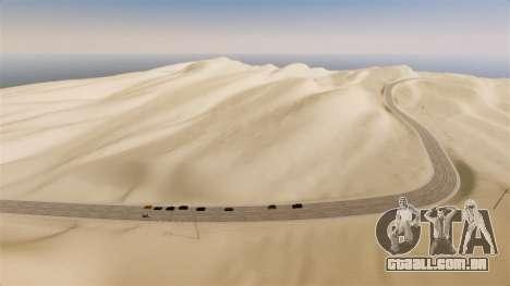 Localização do deserto Highway para GTA 4 segundo screenshot