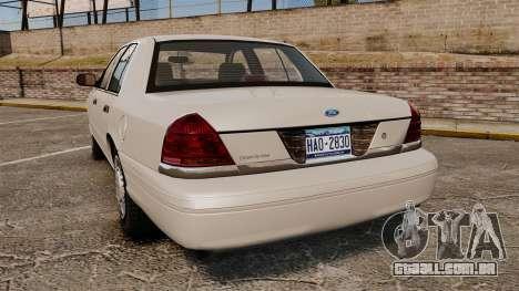 Ford Crown Victoria 1998 v1.1 para GTA 4 traseira esquerda vista