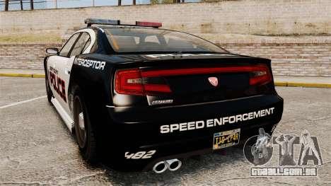 GTA V Bravado Buffalo Supercharged LCPD para GTA 4 traseira esquerda vista