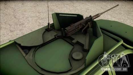 Dacia Duster Army Skin 1 para GTA San Andreas vista traseira